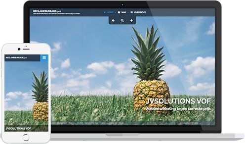 Homepagina voorbeeld Reclame-adviesbureaus